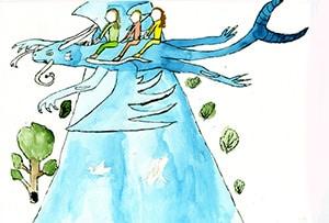 Karikaturkurs Antonia Klein 2 - Dozententätigkeit