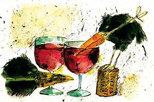 illustration burgunger rabe - Illustrationen