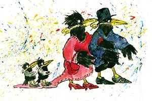 illustration rabenhochzeit - Illustrationen