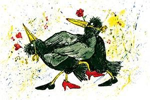 illustration tango rabe - Illustrationen