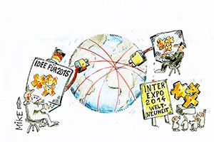 karikatur cyberspionage - Zeitungskarikaturen