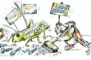 karikatur heuschrecke - Zeitungskarikaturen