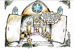 karikatur kirchenaustritt - Zeitungskarikaturen