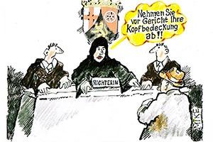 karikatur kopftuch - Zeitungskarikaturen