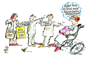 karikatur krankenkasse - Zeitungskarikaturen