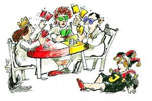 karikatur politikpoker - Zeitungskarikaturen