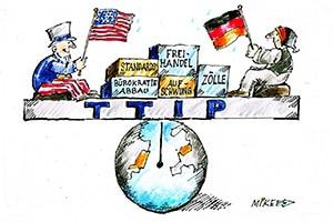 karikatur ttip - Zeitungskarikaturen